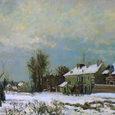 ピサロ/ルーヴシェンヌの雪の道