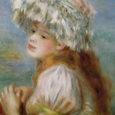 ルノワール/レース帽子の少女